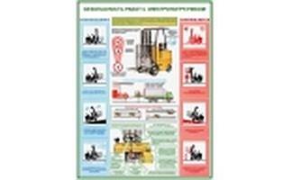 """Плакаты """"Безопасность работ с электропогрузчиками"""""""