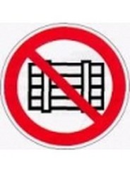 Р 12  Запрещается загромождать проходы и (или) складировать