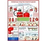 """Плакат  """"Первичные средства пожаротушения"""" (4л.)"""