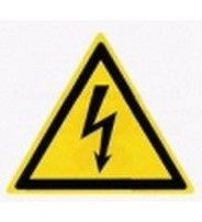 W 08  Опасность поражения электрическим током