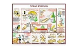 """Плакаты """"Безопасность труда при деревообработке"""""""
